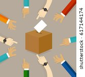 voting or polling election.... | Shutterstock .eps vector #617144174