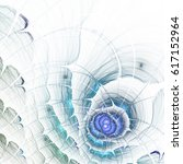 abstract blue fractal texture ... | Shutterstock . vector #617152964