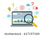 web analytics and information.... | Shutterstock .eps vector #617157104