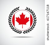 canadian flag  red maple leaf... | Shutterstock .eps vector #617167118