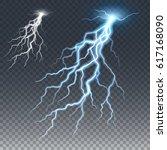 lightening and thunder bolt ... | Shutterstock .eps vector #617168090
