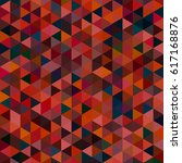 abstract geometric colorful... | Shutterstock .eps vector #617168876