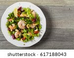shrimp salad with tomato ... | Shutterstock . vector #617188043