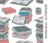 seamless of books. doodle... | Shutterstock .eps vector #617200238