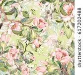 watercolor seamless pattern of... | Shutterstock . vector #617202488