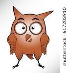 cute owl cartoon illustration | Shutterstock .eps vector #617203910