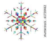 Colorful Geometric Snowflake 1