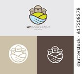 green environment residence... | Shutterstock .eps vector #617208278