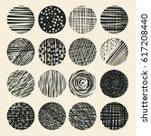 grunge halftone drawing... | Shutterstock .eps vector #617208440