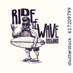 design t shirt or poster ride...   Shutterstock .eps vector #617209799