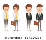 business man character in... | Shutterstock .eps vector #617214236