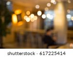 nice interior and warm lighting ... | Shutterstock . vector #617225414