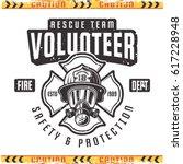 volunteer vector emblem for... | Shutterstock .eps vector #617228948