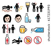alcoholism  drunk man  alcohol... | Shutterstock .eps vector #617231993