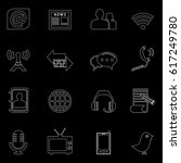 communication and media icons... | Shutterstock .eps vector #617249780