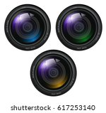 camera photo lenses  vector... | Shutterstock .eps vector #617253140