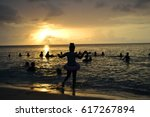 sunset in jamaica | Shutterstock . vector #617267894