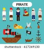 cute pirate icon | Shutterstock .eps vector #617269130