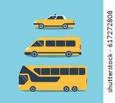 set of cars  for travel  trips  ... | Shutterstock .eps vector #617272808