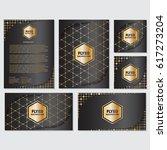 gold banner background flyer... | Shutterstock .eps vector #617273204