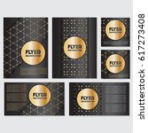 gold banner background flyer... | Shutterstock .eps vector #617273408