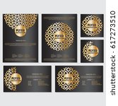 gold banner background flyer... | Shutterstock .eps vector #617273510