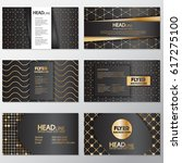 gold banner background flyer... | Shutterstock .eps vector #617275100