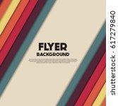fresh flyer style background... | Shutterstock .eps vector #617279840
