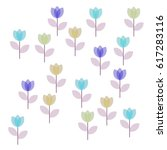 many blue  violet and salad... | Shutterstock .eps vector #617283116