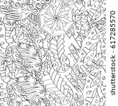 tracery seamless pattern.... | Shutterstock .eps vector #617285570