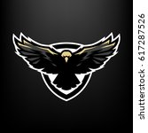 eagle in flight  logo  symbol. | Shutterstock .eps vector #617287526