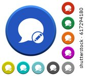 moderate blog comment round... | Shutterstock .eps vector #617294180