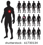 set of illness people with pain ... | Shutterstock .eps vector #61730134