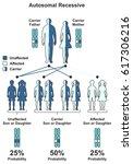 autosomal recessive hereditary... | Shutterstock .eps vector #617306216