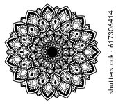 mandalas for coloring book.... | Shutterstock .eps vector #617306414