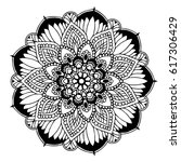mandalas for coloring book.... | Shutterstock .eps vector #617306429