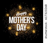 happy mother's day banner with... | Shutterstock .eps vector #617323268