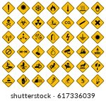 Collection Set Of Warning Sign ...