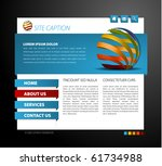 modern web page template   with ...   Shutterstock .eps vector #61734988