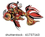 stylized hand drawn fish | Shutterstock .eps vector #61737163