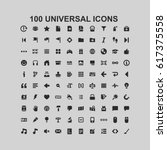 100 universal icons | Shutterstock .eps vector #617375558