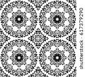 seamless floral pattern motif... | Shutterstock .eps vector #617379290