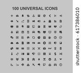 100 universal icons | Shutterstock .eps vector #617386010
