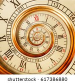 antique old clock abstract... | Shutterstock . vector #617386880