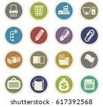 office vector icons for user... | Shutterstock .eps vector #617392568