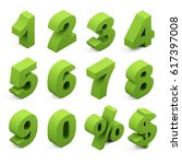 three dimensional numbers. 3d... | Shutterstock . vector #617397008