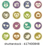 love vector icons for user... | Shutterstock .eps vector #617400848
