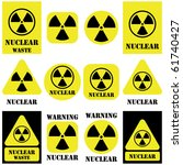 nuclear vector set isolated on...   Shutterstock .eps vector #61740427