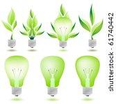 Eco Light Bulbs Vector Set...