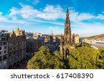 the walter scott monument in... | Shutterstock . vector #617408390